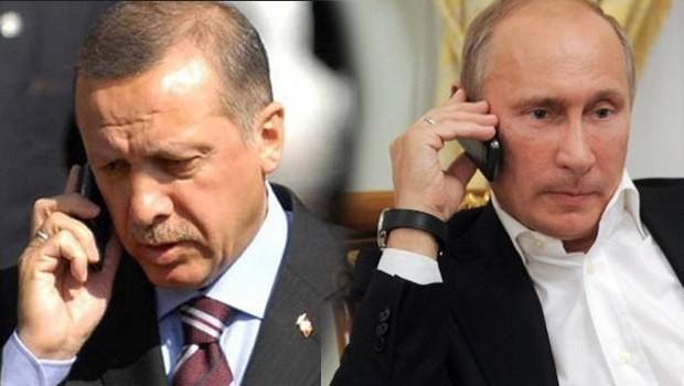 Erdoğan'dan Putin'e Suriye telefonu