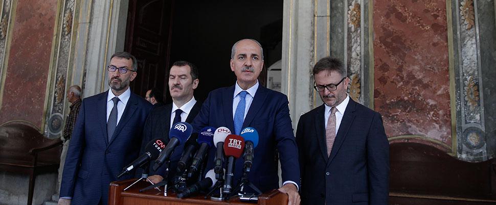 Kurtulmuş'tan 'Topkapı Sarayı' açıklaması