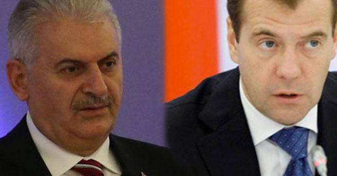 Yıldırım, Medvedev'e üzüntülerini iletti