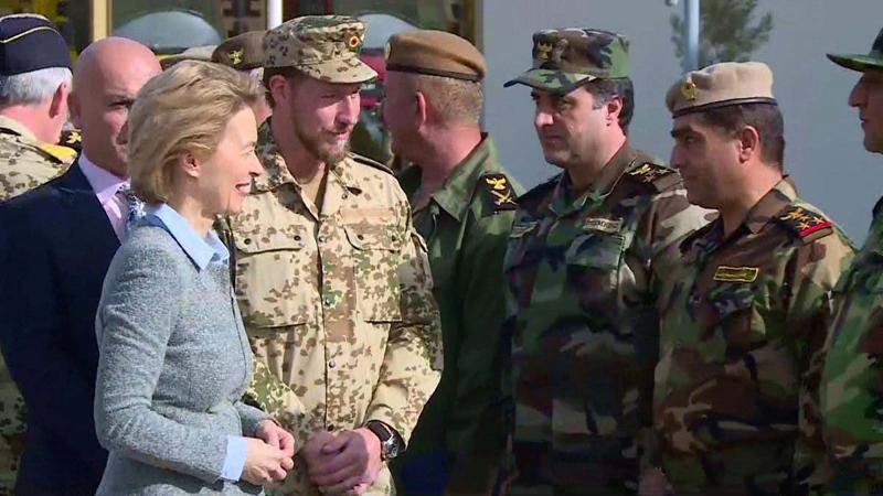 Alman Savunma Bakanı'ndan Barzani'ye ziyaret