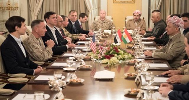 'Kürdistan' bayrağı gölgesinde ABD-Barzani buluşması