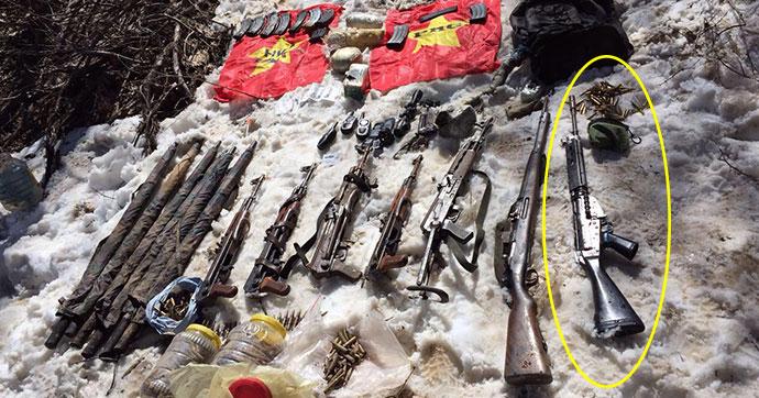 Teröristlerin cephaneliğinde Belçika tüfek ve mühimmatı!