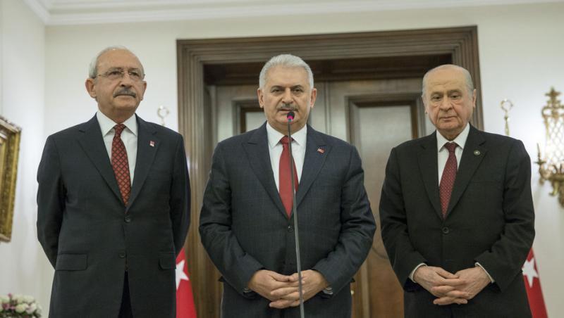 Başbakan Yıldırım, Kılıçdaroğlu ve Bahçeli ile görüşüyor