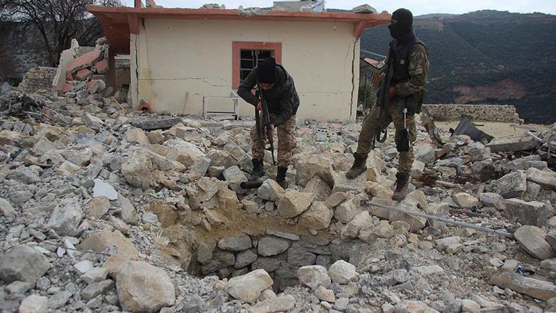 Afrin'de PYD/PKK'lılara ait yeni tüneller ortaya çıkarıldı
