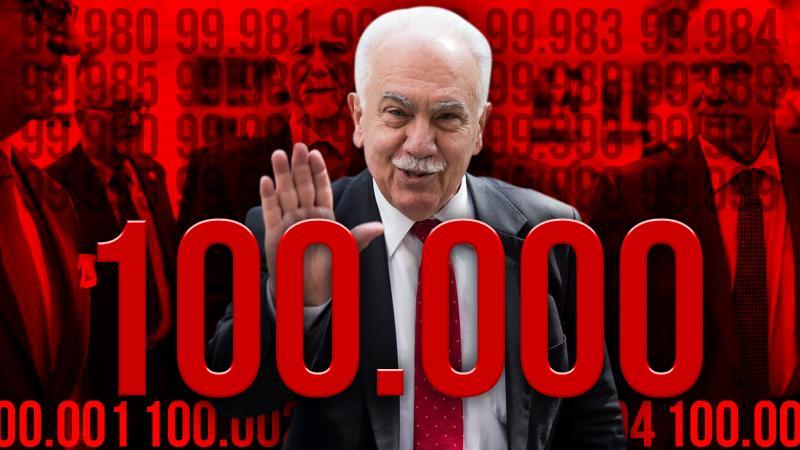 Doğu Perinçek 100 bini aştı!