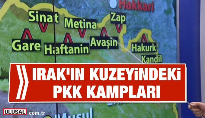 Irak'ın kuzeyindeki PKK kampları