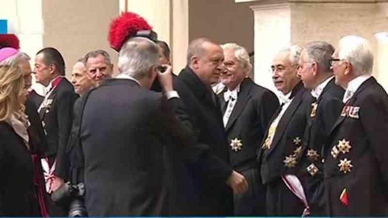 Erdoğan Vatikan'da