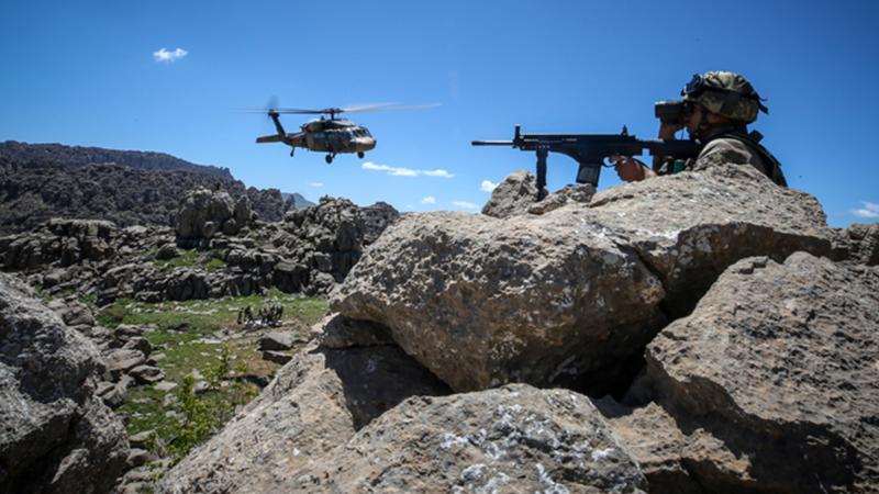 Zap, Avaşin-Basyan ve Çukurca'da silahlı 9 terörist etkisiz hale getirildi