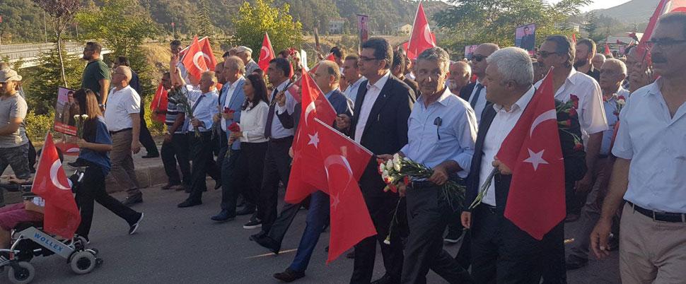 CHP'den Tunceli'de, 'Terörü protesto ve şehit Necmettin öğretmeni anma yürüyüşü'