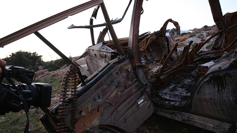 İntihar saldırısı tankla engellendi