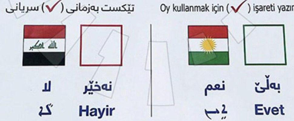 Bağımsızlık referandumu için 3 dilli pusula!