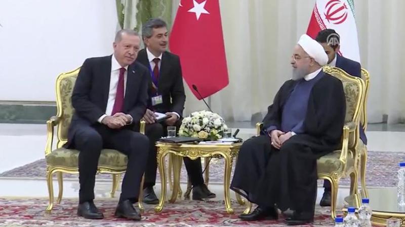 3'lü zirve öncesi Erdoğan ile Ruhani baş başa görüştü