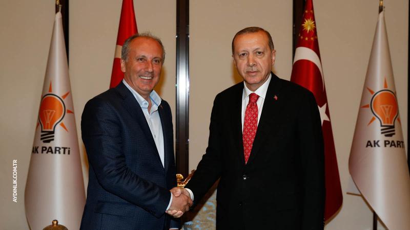 Cumhurbaşkanı Erdoğan-Muharrem İnce görüşmesi sona erdi