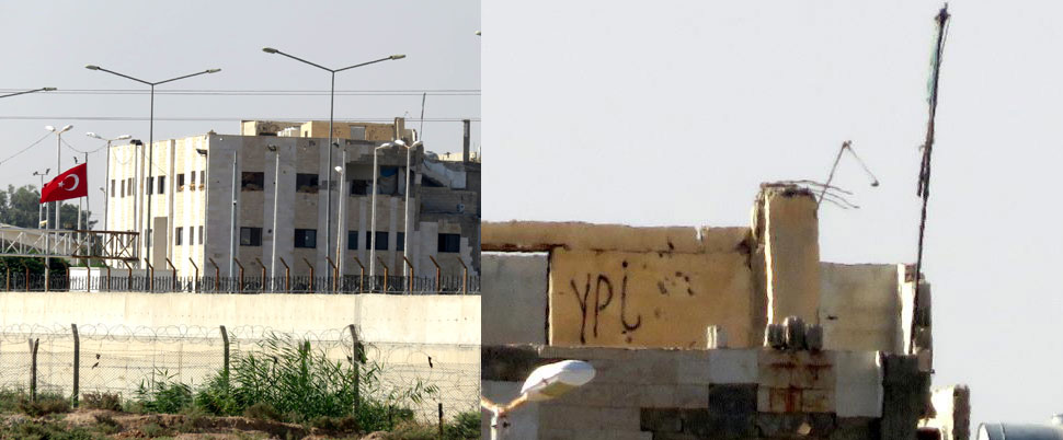 ABD bayrakları ile PYD/YPG flamaları kaldırıldı