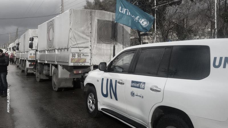 BM'nin yardım konvoyları Doğu Guta'da