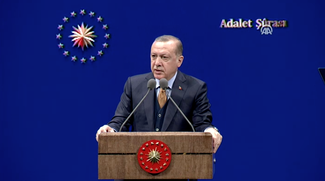Erdoğan, Adalet Şurası'nda konuştu