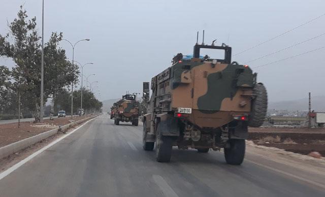 Askeri konvoy Reyhanlı'ya ulaştı