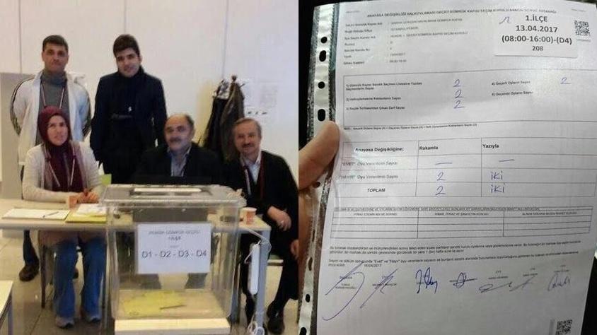 Abdullah Gül'ün oğlunun sandığından 'hayır' çıktı