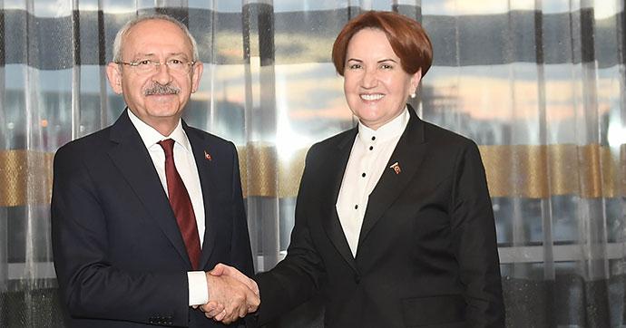 CHP Lideri Kılıçdaroğlu Meral Akşener ile bir araya geldi