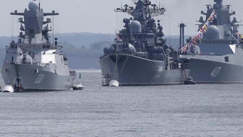 Rus donanması da Suriye kıyılarında