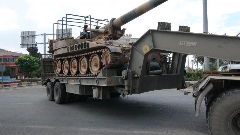 TSK'dan Suriye sınırına tank ve obüs sevkıyatı