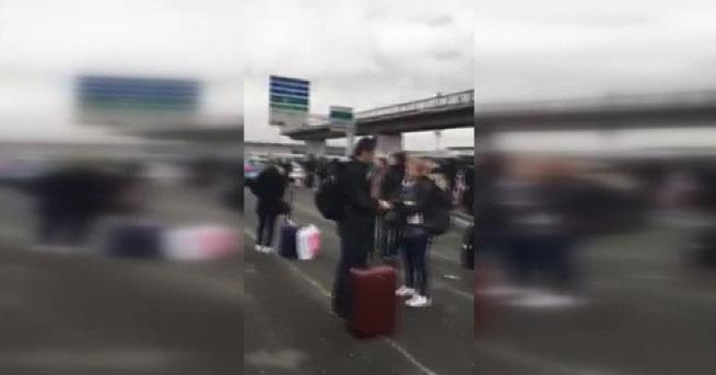 Paris'te havalimanında silah sesleri
